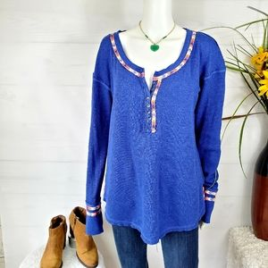 Free People oversized comfy thermal tunic top